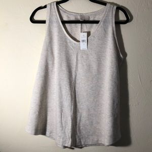 NWT Loft Tank Top. Gray with small neon dots.